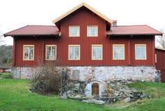 Κεντρικό κτίριο φέουδων Sundsby Στοκ Εικόνες