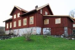 Κεντρικό κτίριο φέουδων Sundsby Στοκ Φωτογραφίες