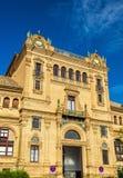 Κεντρικό κτίριο Plaza de Espana, μια αρχιτεκτονική σύνθετη στη Σεβίλη - την Ισπανία Στοκ Εικόνες