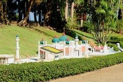 Κεντρικό μουσουλμανικό τέμενος Pattani αντιγράφου στο μικροσκοπικό πάρκο Pattaya στοκ εικόνα