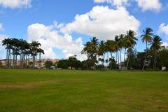 Κεντρικό πάρκο πόλεων στο Fort-de-France, Μαρτινίκα στοκ φωτογραφίες