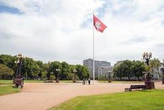 Κεντρικό πάρκο σε Vilnius, Λιθουανία Στοκ Εικόνα
