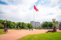 Κεντρικό πάρκο σε Vilnius, Λιθουανία Στοκ Φωτογραφίες