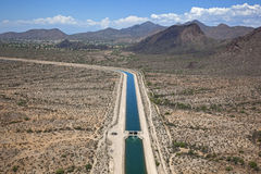 Κεντρικό πρόγραμμα της Αριζόνα κοντά σε Scottsdale, Αριζόνα Στοκ Εικόνες