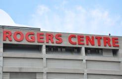 Κεντρικό σημάδι Rogers στοκ φωτογραφία