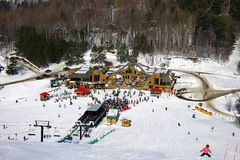 κεντρικό σκι στοκ φωτογραφία