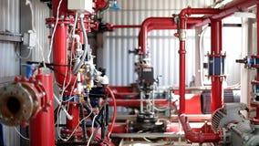 Κεντρικό σύστημα για τους σταθμούς στομίων υδροληψίας πυρκαγιάς απόθεμα βίντεο