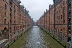 Κεντρικό ταξίδι Γερμανία πόλεων αρχιτεκτονικής Speicherstadt χάμπουργκερ Στοκ εικόνα με δικαίωμα ελεύθερης χρήσης