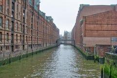 Κεντρικό ταξίδι Γερμανία πόλεων αρχιτεκτονικής Speicherstadt χάμπουργκερ Στοκ Εικόνες