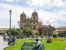 Κεντρικό τετράγωνο σε Cuzco, Plaza de Armas Περού Στοκ Εικόνες