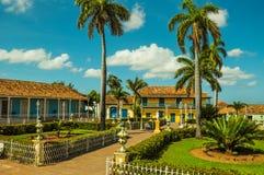 Κεντρικό τετράγωνο στην αποικιακή πόλη του Τρινιδάδ, Κούβα Στοκ Εικόνες