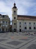 Κεντρικό τετράγωνο στο Sibiu Στοκ Φωτογραφία