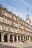 Κεντρικό τετράγωνο του δημάρχου Plaza, στη Μαδρίτη, Ισπανία Στοκ Εικόνες
