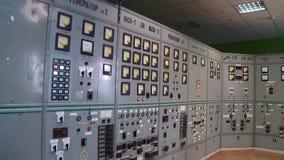 Κεντρικό τηλεφωνικό κέντρο στο σταθμό θερμότητας απόθεμα βίντεο