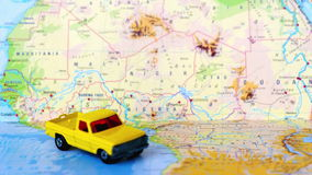 Κεντρικό της Αφρικής χαρτών κίτρινο ανοιχτό φορτηγό του Βορρά και φιλμ μικρού μήκους