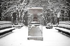 κεντρικό χιόνι πάρκων Στοκ φωτογραφία με δικαίωμα ελεύθερης χρήσης