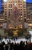 Κεντρικό χριστουγεννιάτικο δέντρο Rockefeller, NYC Στοκ φωτογραφία με δικαίωμα ελεύθερης χρήσης