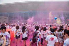 Κεντρικό χρώμα έκθεσης Chongqing που οργανώνεται στους νέους Στοκ Εικόνες