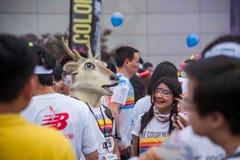 Κεντρικό χρώμα έκθεσης Chongqing που οργανώνεται στους νέους Στοκ Φωτογραφίες