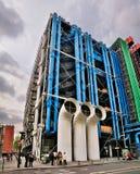 κεντρικό de Παρίσι pompidou Στοκ Εικόνες