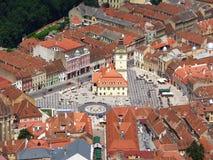 Κεντρικό plaza στη μεσαιωνική πόλη Στοκ φωτογραφία με δικαίωμα ελεύθερης χρήσης