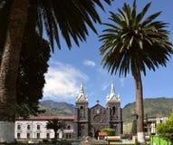 Κεντρικό Plaza της πόλης Baños de Agua Santa, Ισημερινός Στοκ Φωτογραφία