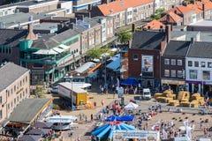 Κεντρικό plaza Emmeloord με το γεωργικό φεστιβάλ πατατών, οι Κάτω Χώρες Στοκ φωτογραφία με δικαίωμα ελεύθερης χρήσης