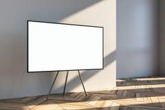 Κενός άσπρος πίνακας διαφημίσεων στο τρίποδο διανυσματική απεικόνιση