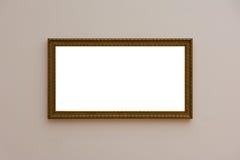 Κενός άσπρος τοίχος η άσπρη σύγχρονη Mo εικόνων πλαισίων γκαλεριών τέχνης Στοκ Φωτογραφία