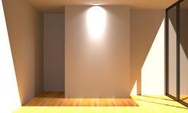 Κενός άσπρος τοίχος χρώματος δωματίων Στοκ Φωτογραφίες