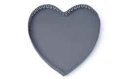 Κενός δίσκος καρδιάς, που απομονώνεται υπό μορφή Στοκ Φωτογραφίες