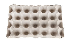 Κενός δίσκος των αυγών που απομονώνονται Στοκ Φωτογραφία