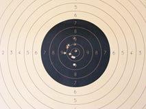 Κενός αθλητισμός στόχων για στενό επάνω ανταγωνισμού πυροβολισμού Στοκ Εικόνες