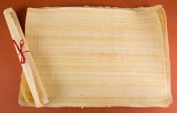 Κενός αιγυπτιακός πάπυρος Στοκ φωτογραφία με δικαίωμα ελεύθερης χρήσης