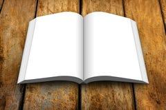 Κενός ανοικτός ξύλινος πίνακας βιβλίων στοκ εικόνα με δικαίωμα ελεύθερης χρήσης