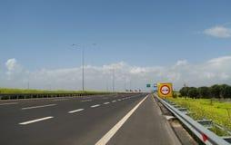 κενός δρόμος εμποδίων στοκ φωτογραφία με δικαίωμα ελεύθερης χρήσης
