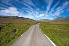 κενός δρόμος επαρχίας Στοκ Φωτογραφίες