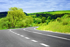 κενός δρόμος τοπίων αγροτ& Στοκ φωτογραφία με δικαίωμα ελεύθερης χρήσης