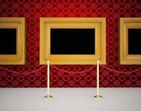 κενός εσωτερικός πολυτελής τοίχος στοών πλαισίων ξύλινος διανυσματική απεικόνιση