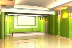 κενός εσωτερικός τοίχος σεμιναρίου δωματίων χρώματος Στοκ Εικόνα