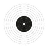 Κενός διανυσματικός στόχος πυροβόλων όπλων, στόχος πυροβολισμού εγγράφου, κενό πρότυπο Στοκ Φωτογραφία