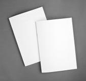 Κενός κατάλογος, φυλλάδιο, περιοδικά, χλεύη βιβλίων επάνω στοκ εικόνα με δικαίωμα ελεύθερης χρήσης
