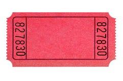 Κενός κόκκινος απομονωμένος εισιτήριο κινηματογράφος λοταρίας στοκ εικόνες