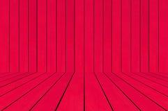 Κενός κόκκινος ξύλινος για το υπόβαθρο Στοκ Εικόνα