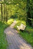 κενός ξύλινος πάγκων στοκ φωτογραφία με δικαίωμα ελεύθερης χρήσης