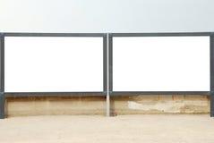 Κενός πίνακας διαφημίσεων δύο στοκ φωτογραφίες με δικαίωμα ελεύθερης χρήσης