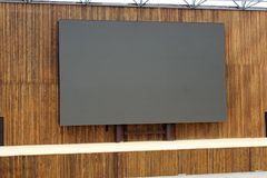 Κενός πίνακας διαφημίσεων πολυμέσων με το διάστημα για τη διαφήμιση στοκ φωτογραφία με δικαίωμα ελεύθερης χρήσης