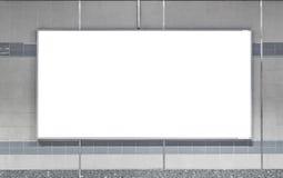 Κενός πίνακας διαφημίσεων στον υπόγειο Χρήσιμος για τη διαφήμισή σας στοκ εικόνες με δικαίωμα ελεύθερης χρήσης