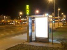 Κενός πίνακας διαφημίσεων στο κράτος ταξί Στοκ φωτογραφία με δικαίωμα ελεύθερης χρήσης