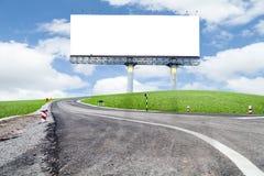 Κενός πίνακας διαφημίσεων για τη διαφήμισή σας με το διάστημα για το κείμενο στο ρ στοκ φωτογραφία